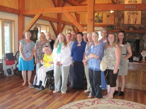 Many Hands Make Light Work: A few of the many volunteers for the 2015 House Tour. Photo by Aldean Kilbourn, used with permission.